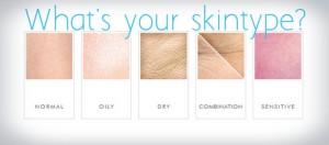 Welke verschillende huidtypes zijn er?